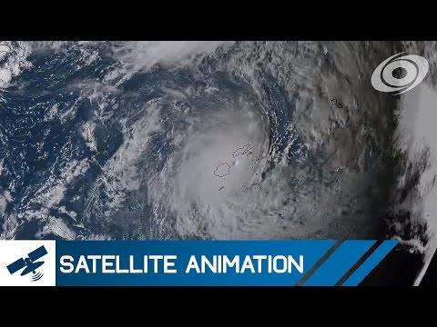 Satellite Imagery of Cyclone Winston (February 2016)