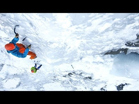 Ice climbing Techniques - Ice screw placement, anchors and V-threads   Petzl Tech Tips