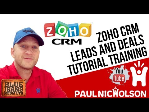 Zoho CRM Leads And Deals Beginner Training Tutorial