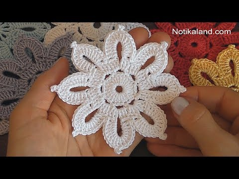 Crochet Flower Tutorial Very Easy Youtube
