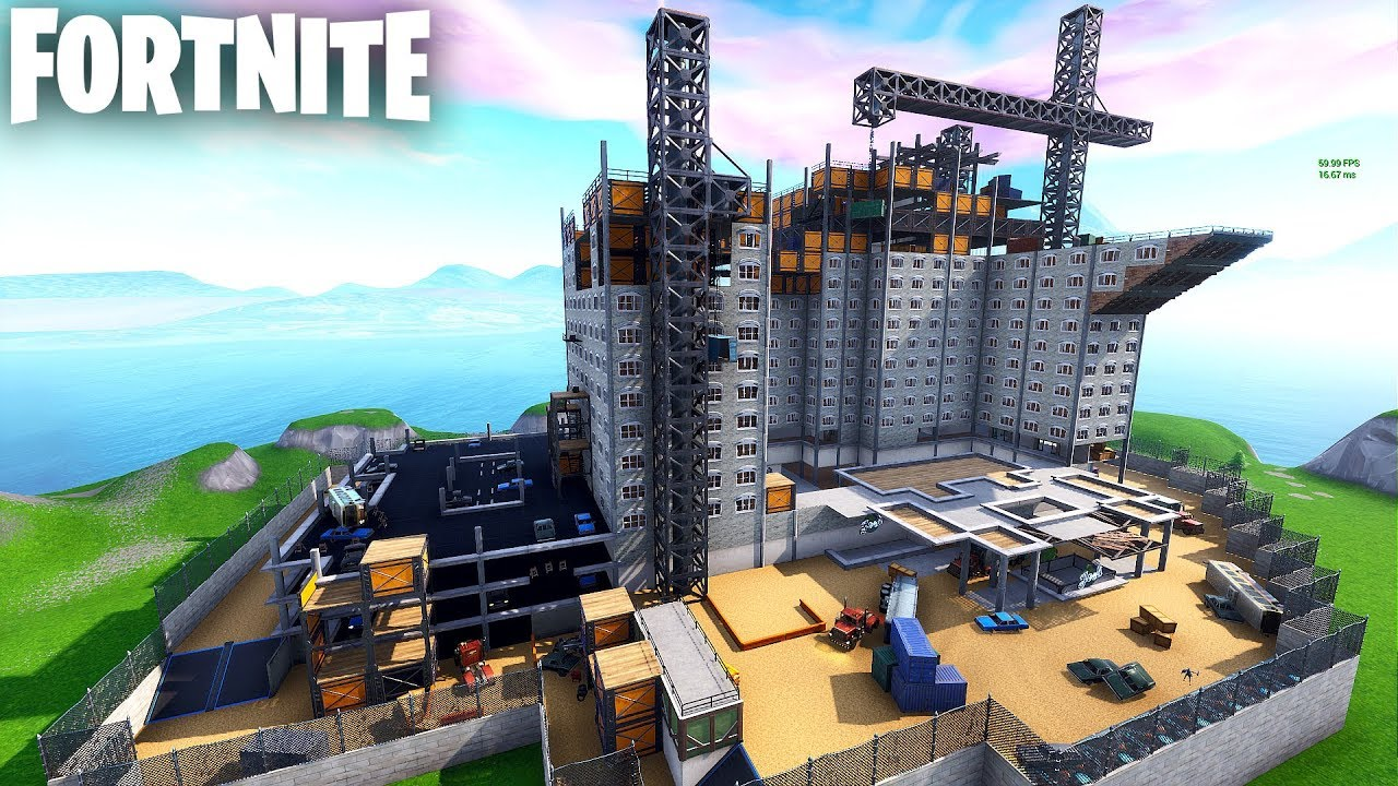 Huge Hide And Seek Map In Fortnite Creative Codes In Description Construction Site Cod Blackout
