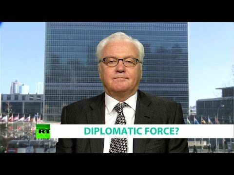 DIPLOMATIC FORCE? Ft. Vitaly Churkin, Russian Ambassador to the UN