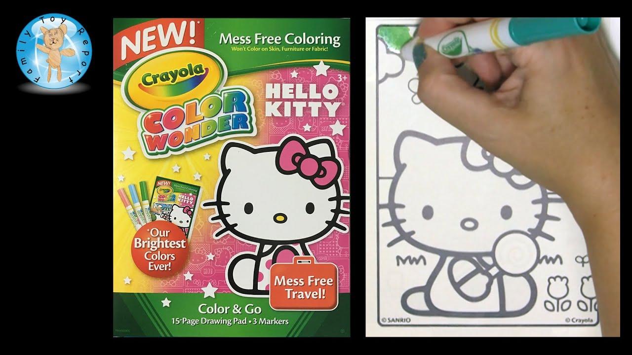 Crayola Color Wonder Hello Kitty Coloring Book Candy Shop - Family ...