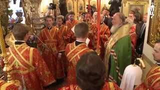 Патриарх Кирилл совершил Литургию в Покровском монастыре г. Москвы(2 мая 2014 года, в день памяти блаженной Матроны Московской, 15-ю годовщину ее канонизации, Святейший Патриарх..., 2014-05-03T10:04:24.000Z)