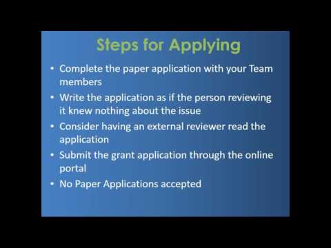 Nebraska AFHK:  How to Write a Grant and Get Funded!