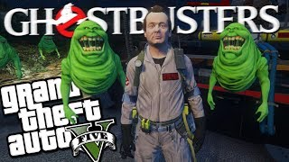"The GHOSTBUSTERS ""Slimer"" MOD w/ Peter Venkman (GTA 5 PC Mods Gameplay)"