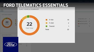 homepage tile video photo for Ford Telematics Essentials   Ford Commercial Solutions   Ford