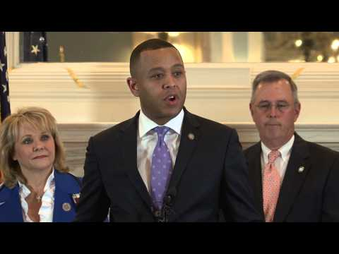 T.W. Shannon, Governor Mary Fallin and Leaders Announce Budget Deal