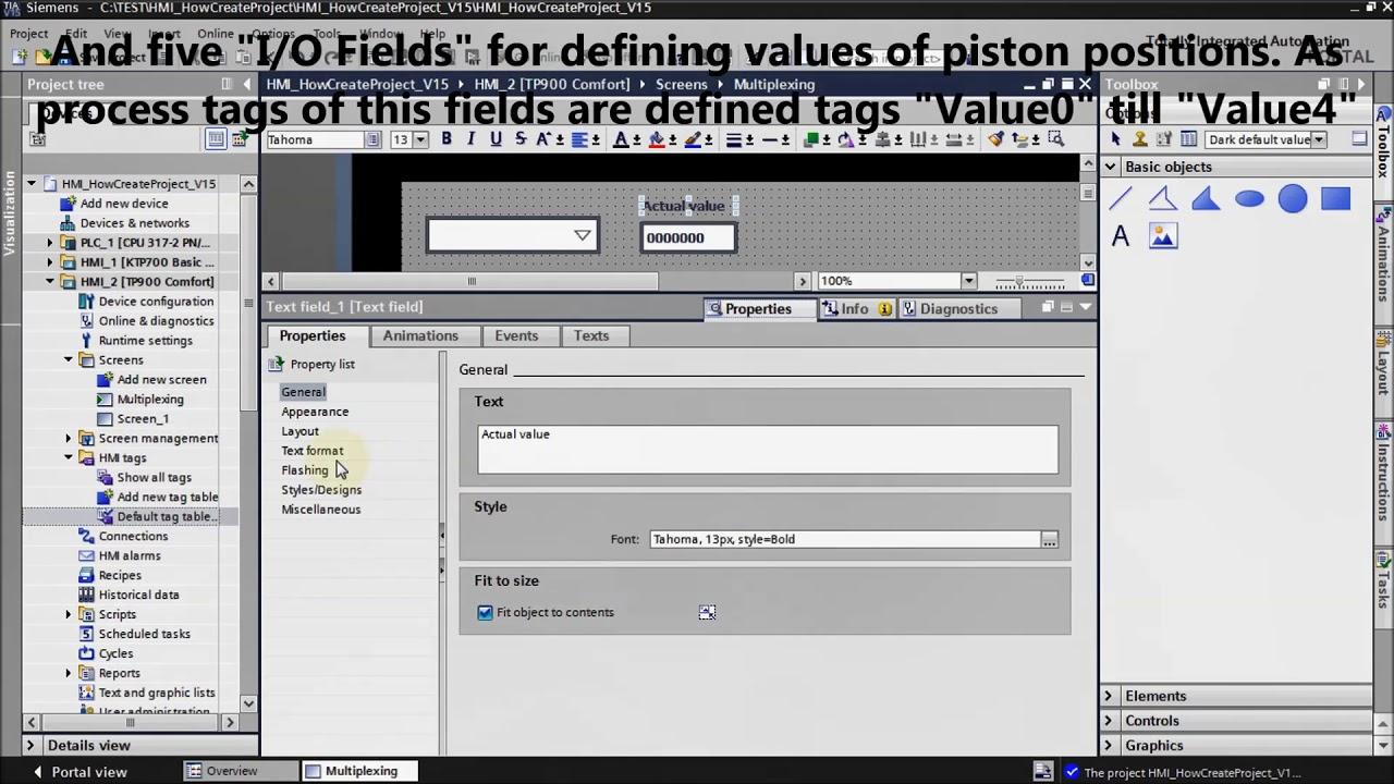 Siemens TIA Portal HMI tutorial - Multiplexing (Tia Portal / WinCC)