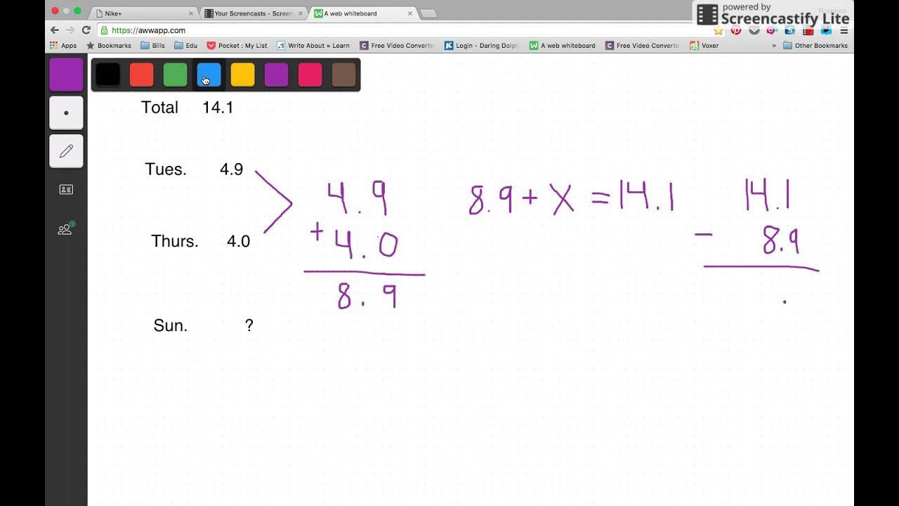 worksheet Missing Addends decimals missing addends tutorial youtube tutorial
