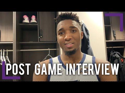 Donovan Mitchell Post Game Interview - Utah Jazz   2018-19 NBA Season