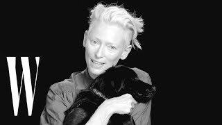 Tilda Swinton Cuddles Puppy While Talking Secret Skills and School Uniforms | Screen Tests