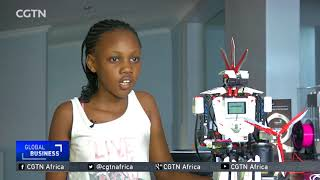 Talented 10-year-old builds a robot using Lego pieces