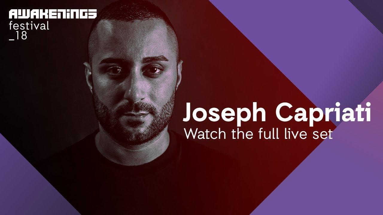 Awakenings Festival 2018 Saturday Live Set Joseph Capriati Area V Youtube