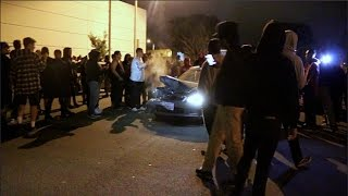 CIVIC CRASHES INTO CROWD WHILE DRIFTING!