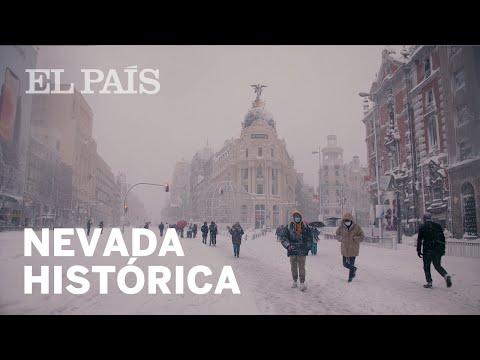La NIEVE que ha dejado la borrasca FILOMENA en Madrid