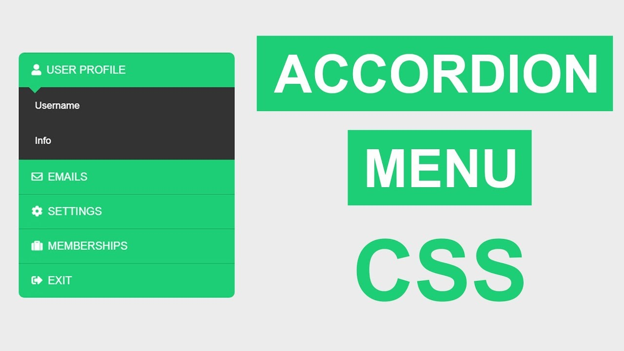 Accordion Menu CSS Only