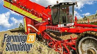 FARMING SIMULATOR 20 - KARTOFFEL-Ernte mit dem Grimme Varltron 470 | Landwirtschafts-Simulator 20