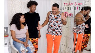 FATHER & SON FASHION NOVA MEN HAUL | WIFE PICKS CLOTHES