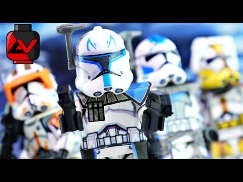 LEGO Star Wars: The Clone Wars - Rex, Cody, Fives, & Bly - Showcase