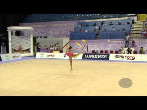 OU-GHANEM Najlae (BEL) - 2014 Rhythmic Worlds, Izmir (TUR) - Qualifications Ribbon