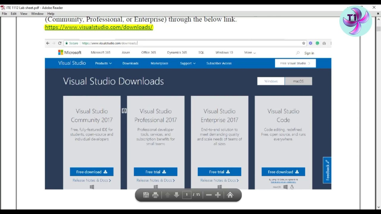 Installing Visual Studio 2017 Step by step