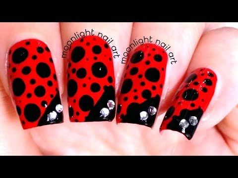 Ladybug Inspired Nails – Blobicure Nail Art Design Tutorial thumbnail