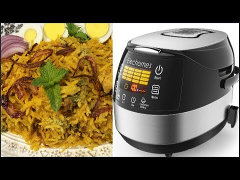 elechomes-led-touch-rice-cooker-|-instant-salmon-biryani