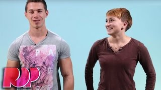 Lesbians Kiss Guys For The First Time In Stupid