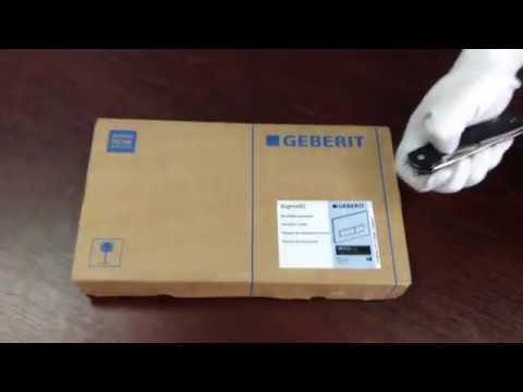 Ordentlich Unboxing Geberit Sigma 50 115.788.GH.5 (brushed chrome) - YouTube XF58