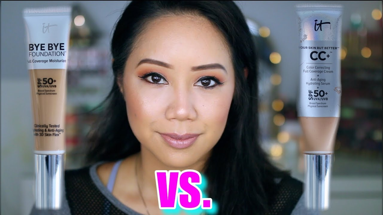 It Cosmetics Bye Bye Foundation Vs Cc Cream Youtube
