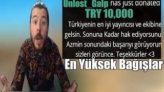 Unlost'a Gelen En Yüksek Bağışlar ! (3000 TL 1000 TL ve Fazlası)