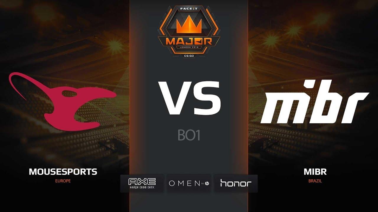 mousesports vs MIBR, dust2, FACEIT Major London 2018