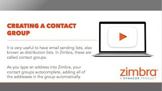 [Tips & Tricks] Creating a Contact Group in Zimbra thumbnail