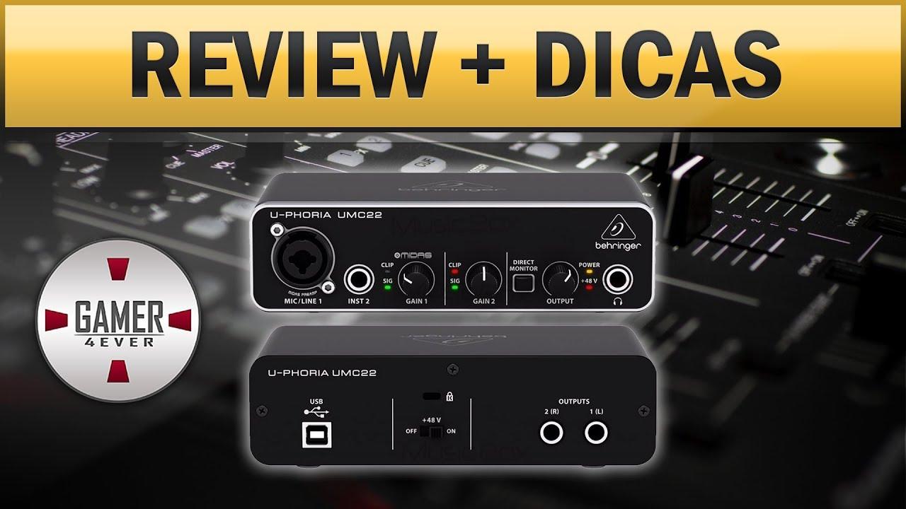 Behringer UMC22 - Como Conectar Headset/Headphone e Caixas de Som Com Adaptadores Certos + Review