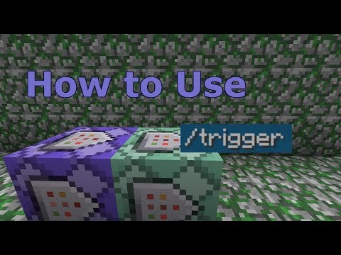 How To Make CUSTOM COMMANDS With /trigger | Minecraft: Command Block