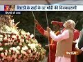 Saibaba centenary ceremony: After performing aarti, Prime Minister hoists flag at Shirdi shrine