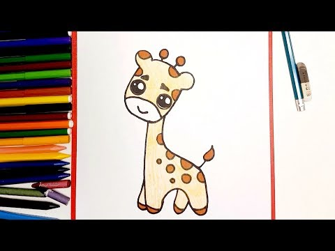 Very Easy 💛 How To Draw Cute Cartoon Giraffe