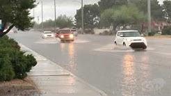 3-12-20 Phoenix, Glendale Arizona Heavy Rain, Street Flooding