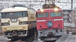 JR西日本 EF81-48号機 24系 寝台特急 日本海 117系300番台 S5編成 国鉄色 大津京駅 20090915