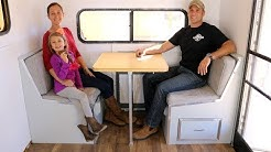How to Build a DIY Travel Trailer - Dinette, Bed, Cabinets and more (Part 6)
