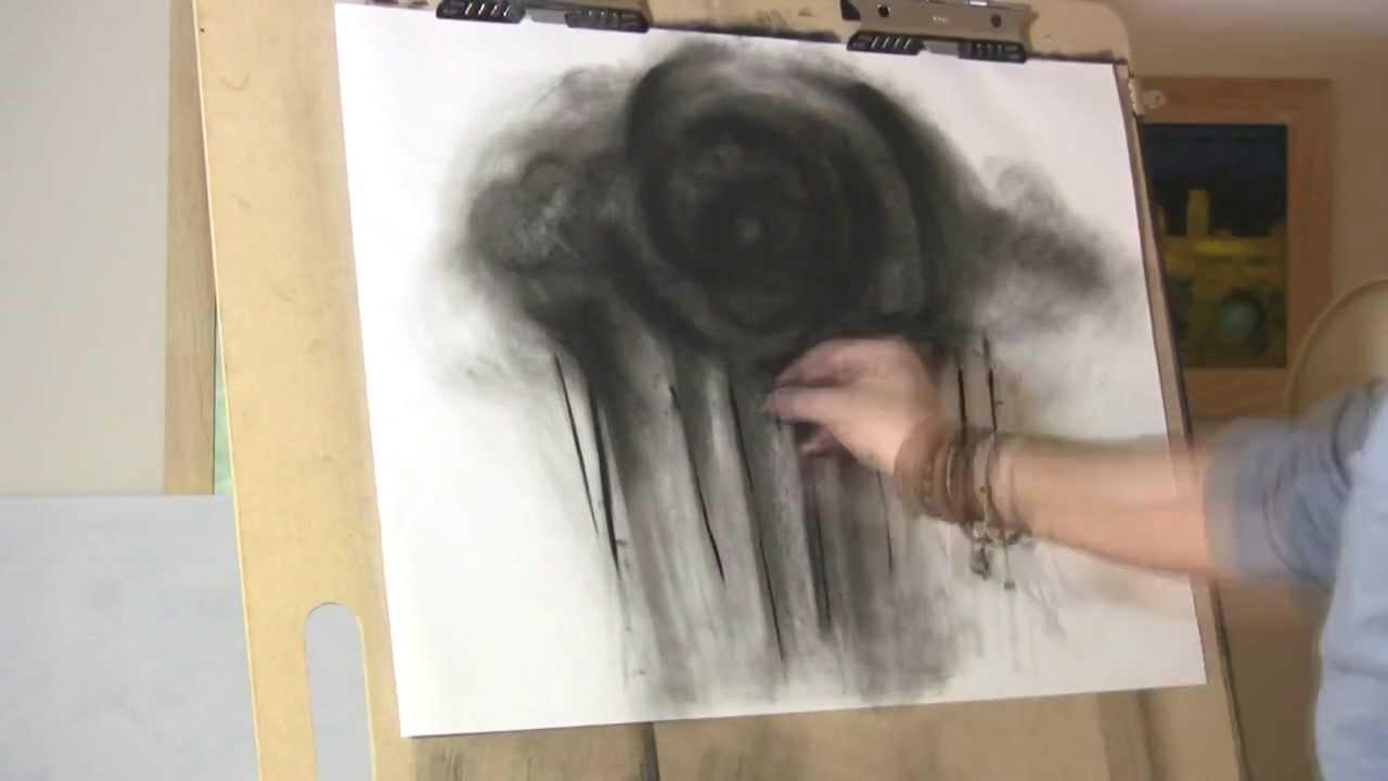 Charcoal Drawing Abstract Surreal Time Lapse Speed Art
