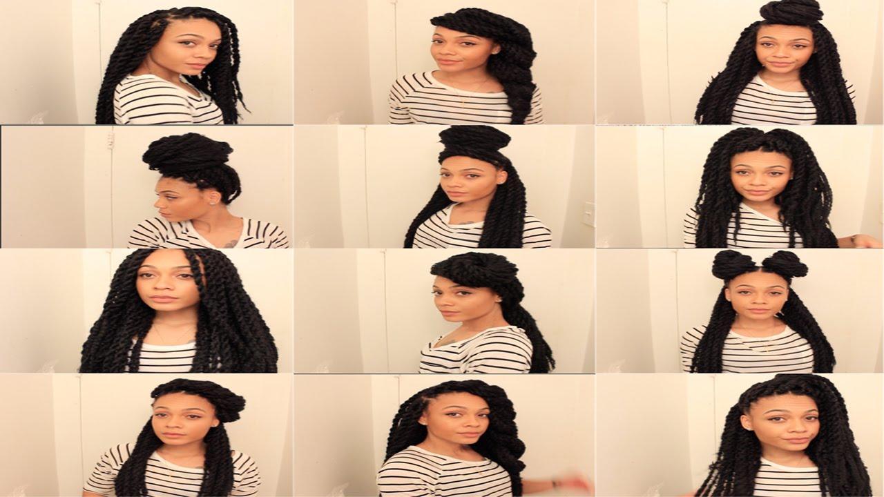 13 easy havana/marley twists hairstyles || thenotoriouskia