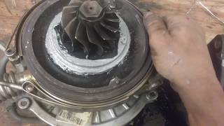 2005 Duramax turbo removal and cleaning.