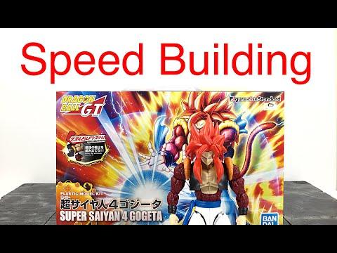 Model Kit Speed Building #15 Bandai Figure-Rise Standard DBGT SS4 GOGETA Model Kit