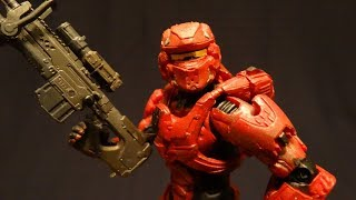 Halo Action Figure Review: Red Spartan Warrior