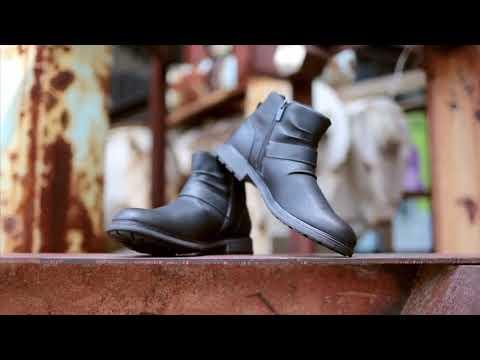 Big Size Men Ankle Boots Zipper Closure Waterproof Buckle