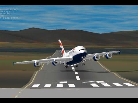 Cross-Wind TakeOff & Landing wo Spoilers
