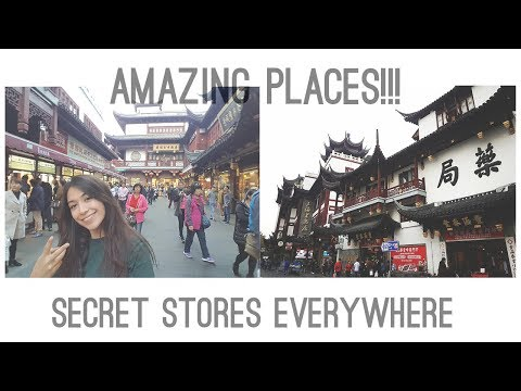 OLD CITY OF SHANGHAI | Fake bags adventure!! | Yuyuan Old Street, Yu Garden & City God Temple