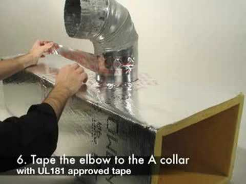 Sealing Rigid Duct To Duct Board Youtube